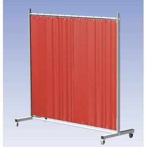 Weld.screen Robusto w.curtain,orange W215cm, H210cm, Cepro International BV