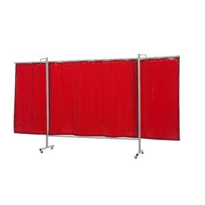 Welding curtain with frame, orange 200x375(W) cm OmniumTriptych, Cepro International BV