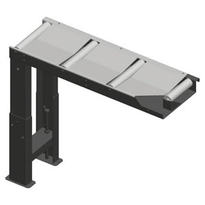 Roller table 1000x290mm, connecting w. saw feed side, Metallkraft