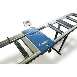 Roller table with length measuring unit, Metallkraft