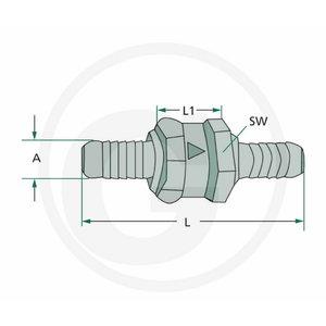 Non-return valve 10MM, Granit