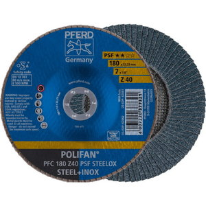 Flap wheel 180mm Z40 PSF PFC POLIFAN, Pferd