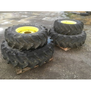 Wheels set 380/85R24 and 460/85R34, John Deere
