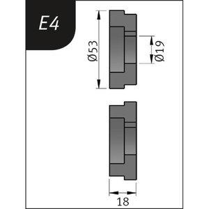 Lisarullikud SBM 110-08le E4, Ø53x19x18mm, Metallkraft