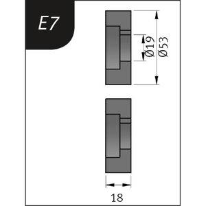 Lisarullikud SBM 110-08le E7, Ø53x19x18mm, Metallkraft