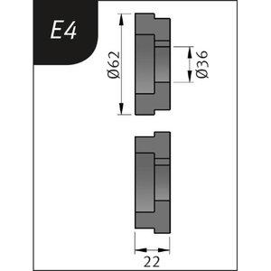 Lenkimo ritinėliai Typ E4, Ø 62 x 36 x 22 mm, Metallkraft