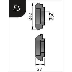 Lenkimo ritinėliai Typ E5, Ø 62 x 36 x 22 mm, Metallkraft