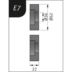 Lenkimo ritinėliai Typ E7, Ø 62 x 36 x 22 mm