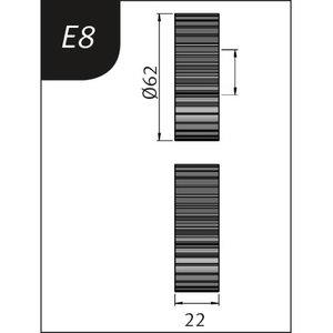 Lenkimo ritinėliai Typ E8, Ø 62 x 36 x 22 mm, Metallkraft