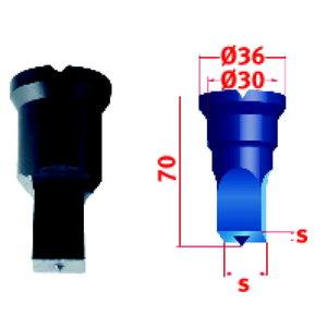 Nelikantstants No.2  9mm, Metallkraft