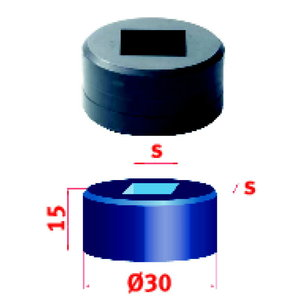 Kvadratinis skylmušio priedas No.30  9.2 mm