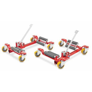 Wheel trolley, bigger rollers and polyrethane wheels