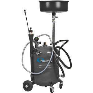 65l waste oil suction unit, grey, Orion