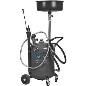 65l waste oil suction unit, grey, Orion
