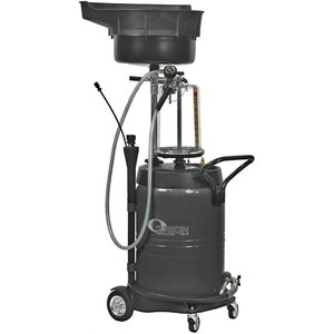 100l waste oil suction collector, gray+ glas bowl, Orion