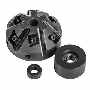 Milling head & guide roller 45° for KE 10-2, Metallkraft