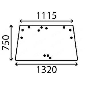 UPPER CAB GLASS M130 - GLASS ONLY, Kubota