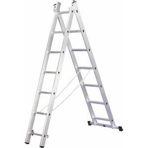 Divdaļīgās universālās kāpnes, 2x7 pakāpieni, ALPE