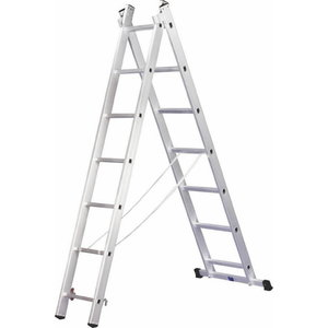 Combination ladder, three-section 9 steps, Alpe