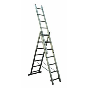 Combination ladder, three-section 7 steps, Alpe