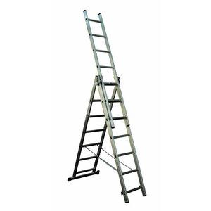 Универсальная лестница из 3 частей, 2,56/5,64 м, 3x9 ступеней, ALPE