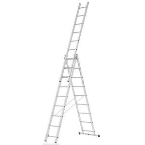 Universalios kopėčios 3 dalių 2,84/6,47 m  40047/3x10, Hymer