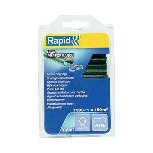 R:Hog Ring VR16/ 1.39M green Blister  2-8 mm, Rapid