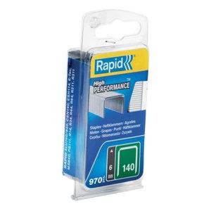 klambrid 140/6 970tk, 10,6x1,3mm, roheline, blisterpakend, Rapid