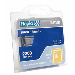 Klambrid 13/8 1600tk 10,6x0,7mm, kollane, blisterpakend, Rapid