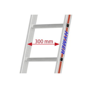 leaning ladder 4011, 14 rungs, Hymer