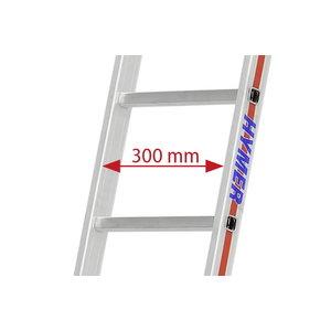 Leaning ladder 4011, 14 rungs, Hymer