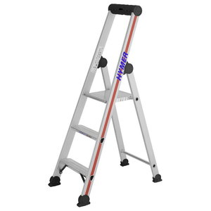 Step ladder with safety platform SC40, 3 steps, Hymer