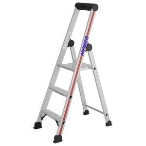 Step ladder with safety platform SC40, 3 steps, Hymer