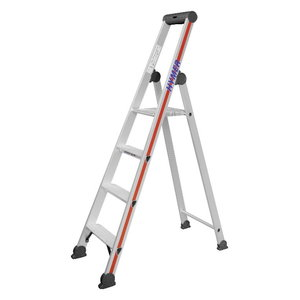 Step ladder with safety platform SC40, 4 steps 4026, Hymer
