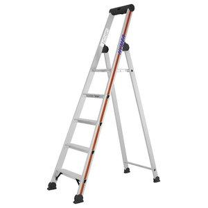 Step ladder with safety platform SC40, 5 steps 4026, Hymer