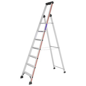 Step ladder with safety platform SC40, 7 steps 4026, Hymer