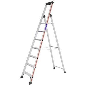 Step ladder with safety platform SC40, 7 steps 4026, Hymer