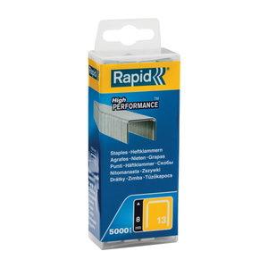 Kabės 13/8 5000vnt,10,6x0,7mm, geltonos, plastikinė pak., Rapid