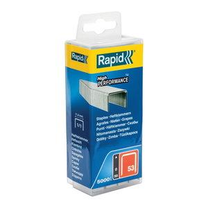 Klambrid 53/8 5000tk, 11,4x0,75mm, punane, plastkarbis, Rapid