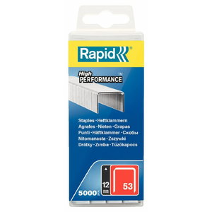 Staples 53/12 5000pcs, PP Box, Rapid