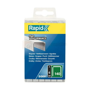 Staples 140/6 5000pcs, PP Box, Rapid