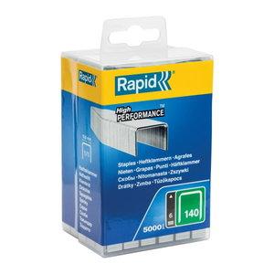 Klambrid 140/6 5000tk, 10,6x1,3mm, roheline, plastkarbis, Rapid