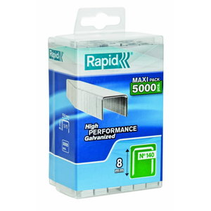 Staples 140/8 5000pcs, PP Box, Rapid