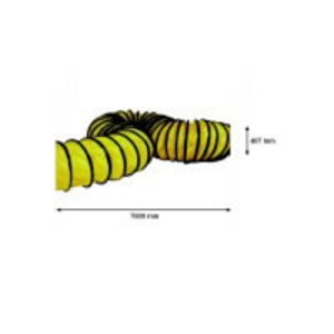 Flexible yellow hose 7,6m - 407mm - BL 8800, Master