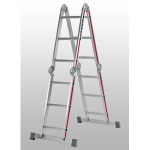 Универсальная лестница, 4х4 ступней, 4,59 м, HYMER