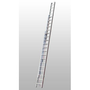 Rope-operated extension ladder, 3x14 steps, 4,13/9,76m 4061, Hymer