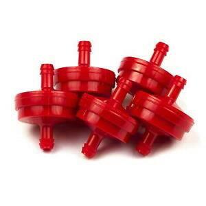 Kütusefilter 150 micronit, punane. Sisaldab 5x  298090S&BS, Briggs&Stratton