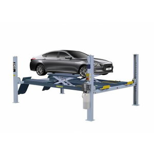 4-postlift with scissor lift 4,5T, 4998mm, wheel alignment, Peaklift