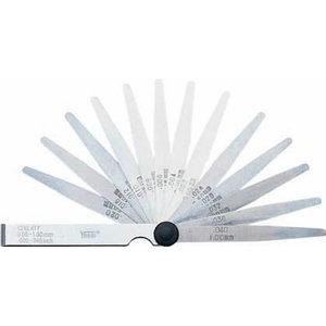 Feeler Gauge Set, singly, in foil, 0.05 - 2.00, 21 blades, Vögel