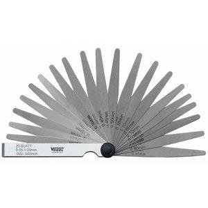 Feeler gauge set 0,03-1,0mm 26 blades, Vögel